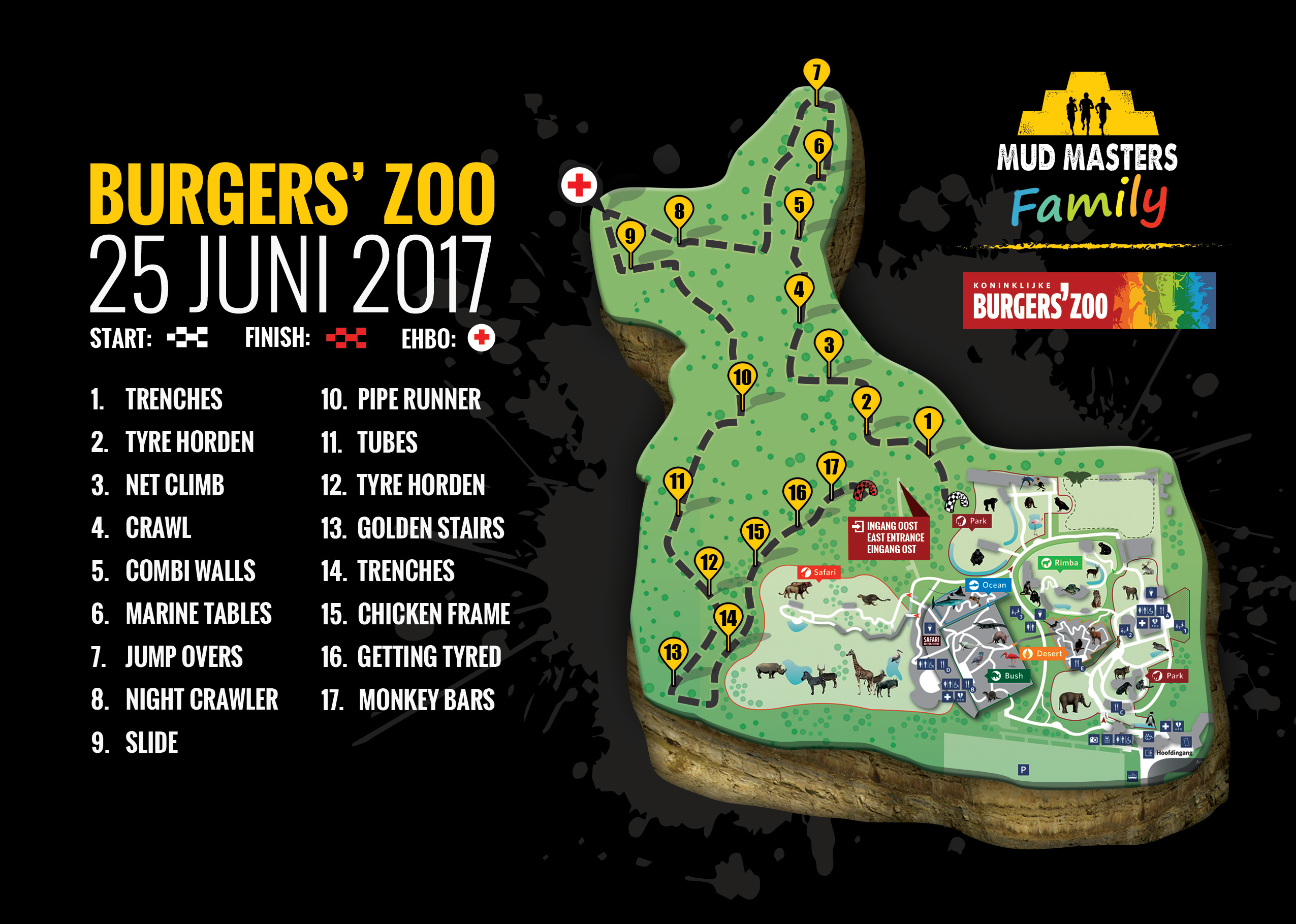 Family Burgers' Zoo 2017 - Mud Masters Obstacle Run